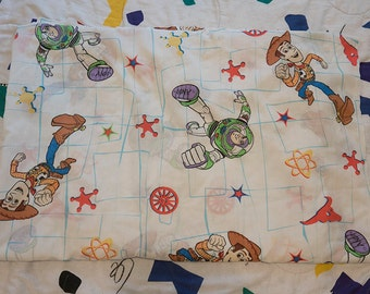 Vintage Toy Story Twin Flat Sheet 1990s