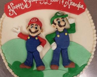 Mario and Luigi Cake Topper Set