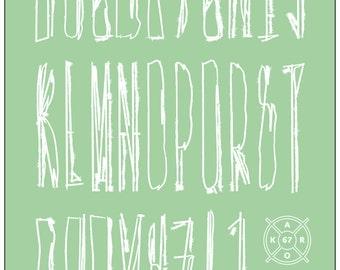 Print style I alphabet Scrible