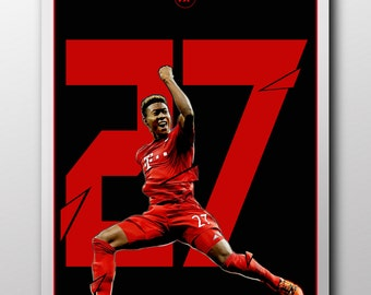 David Alaba Bayern Munich Poster