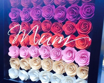 Hand Rolled 3D roses with personalised message