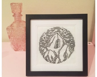 Nightscape Framed Embroidery
