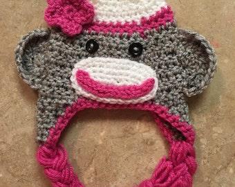 Pink sock monkey!