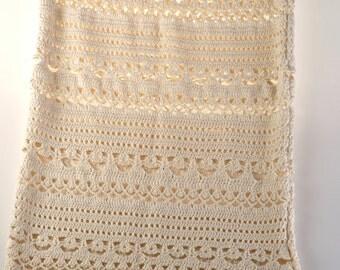Crochet Long Skirt, Beachwear