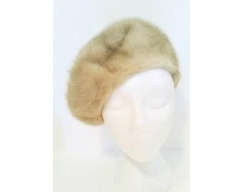 Vintage ladies fur hat