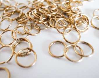 10 mm Raw Brass Jump Rings