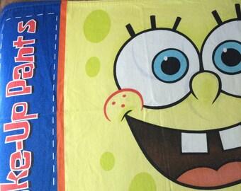 Sponge Bob, Wake up Pants, twin flat sheet and pillowcase, Nickelodeon 2004
