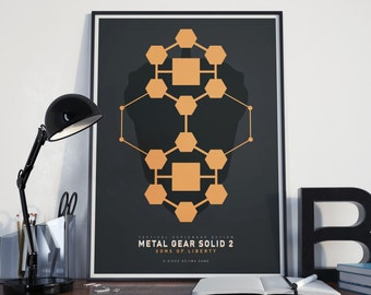 Metal Gear Solid 2: Sons of Liberty - Minimalist Art Print Gamer Poster