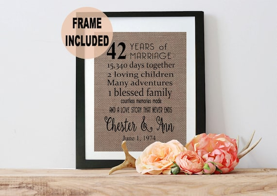 3 Year Wedding Anniversary Gifts For Her: 42nd Anniversary Gift 42nd Wedding Anniversary Gift 42