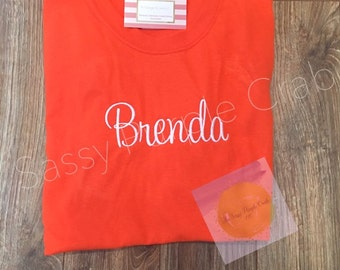 Full name shirt, name shirt, monogram shirt