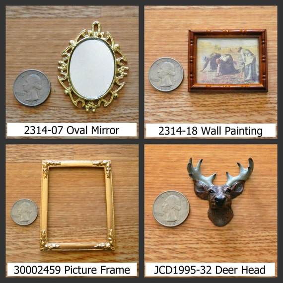 Timeless Minis Home Decor Wall Hanging Mirror Deer Head