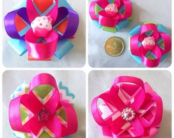 Fancy Ribbon Hair Clips