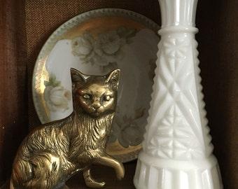 Brass Cat Figurine