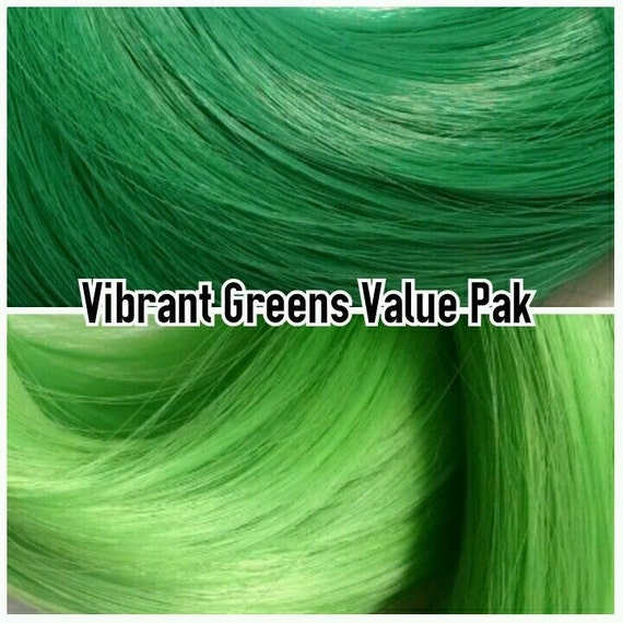 Emerald & Shamrock Green XL 4oz 2 Color Value Pak Nylon Doll Hair Hanks Rerooting Monster High Ever After Barbie My Little Pony Crissy Sindy