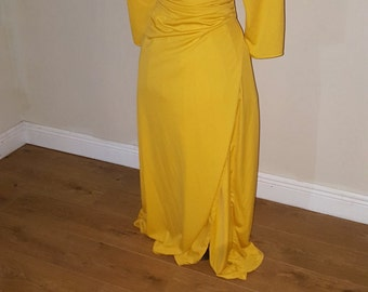 Plus Size Mustard Yellow Wrap Dress