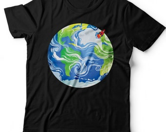 Kids Planet Earth T-Shirt.Space Tee. Solar System. Earth Day.