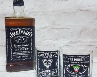 The Joker Whiskey Glasses