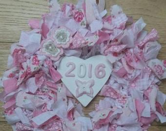 Shabby chic 2016 rag wreath