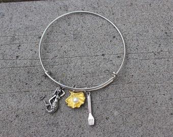 Little Mermaid / Charm Bangle Bracelet