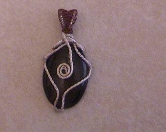 twisted wire charbachon pendant