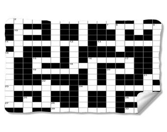 Cross Word Puzzle Velveteen Fleece Blanket