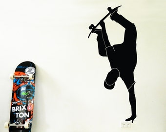 SKATEBOARDER Wall Sticker, Removable Decal, Made In Australia