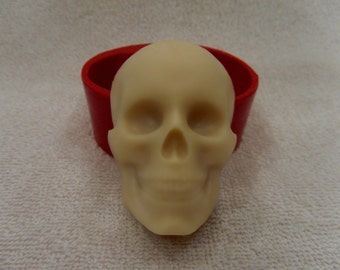 Skull 2 - silicone mold for soap and candles making mould molds halloween