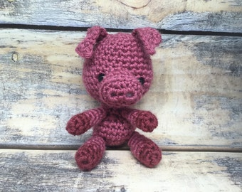 MADE TO ORDER: Crocheted Piggy