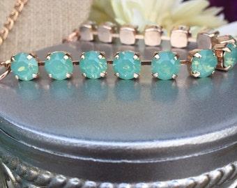 New: Swarovski 8mm pacific opal bracelet in rose gold