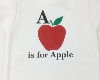 A is for Apple Newborn Onesie Only