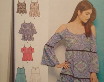 UNCUT dress/top pattern brand new no 1161 A size US xs-xl, Euro xp-xg Fr. tp-tg