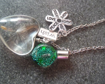 Personalised fairy wishes necklace