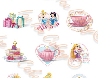 Princess Tea Party Cupcake Toppers