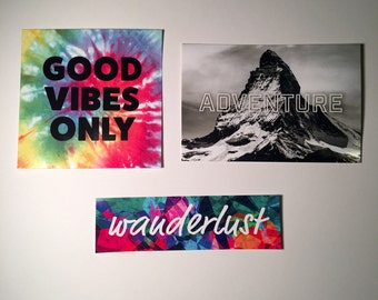 Good Vibes Only Adventure Wanderlust Sticker