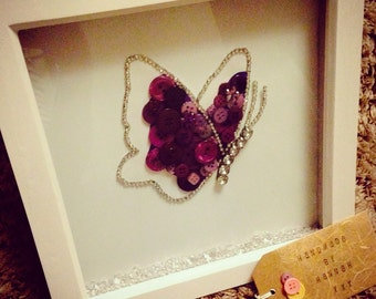 Butterfly button frame