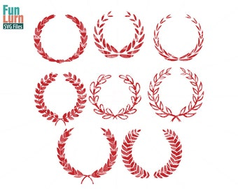 Laurel Monogram frame SVG, wreath Monogram frame, leaves, wreath, SVG Files, SVG for Cricut Silhouette, Monogram Svg ,Svg Cut Files