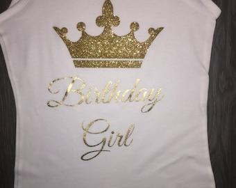 Birthday girl tank top birthday shirt