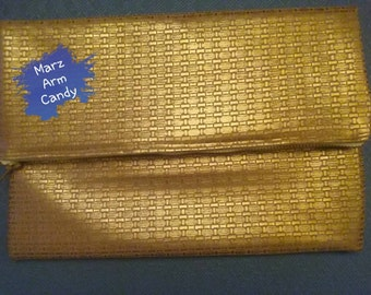 Gold Dust Folded Oversized Clutch