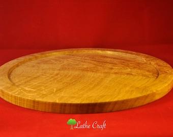 Bur Oak Wood Tray - Handmade in UK