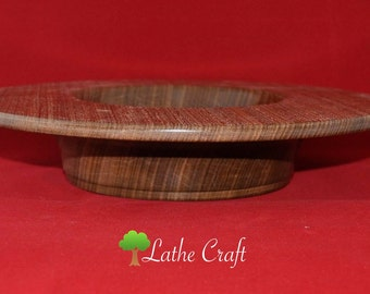 Large Platter in Afrormosia Wood - Handmade in UK