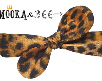 Leopard headband, leopard top knot,leopard head wrap,rockabilly headband,cheetah head scarf,top tie headband,tie up head wrap,leopard wrap