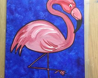 Pink Flamingo 9x12