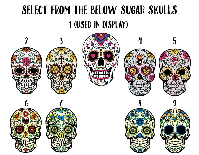 Sugar skull birthday invitation, day of the dead invitation, Dia de ...