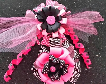 Double the pink hair clips set
