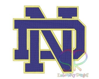9 Size Notre Dame Fighting Irish Embroidery Designs College Football Logo Embroidery Design Machine Embroidery - Instant Download
