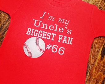 I'm My Uncle's Biggest Fan Baseball Tee