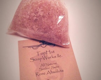 4 oz Rose Absolute Soakin' Salts (ALL-NATURAL)