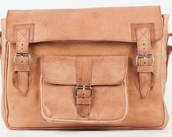 Messenger bag real leather bag shoulder bag