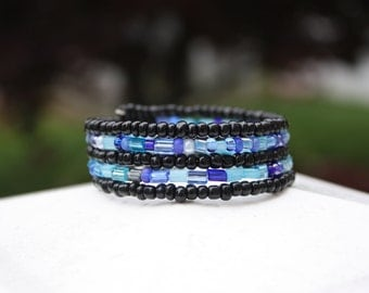 Blue Wonder Wrap Bracelet