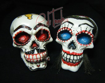gomez and morticia skull